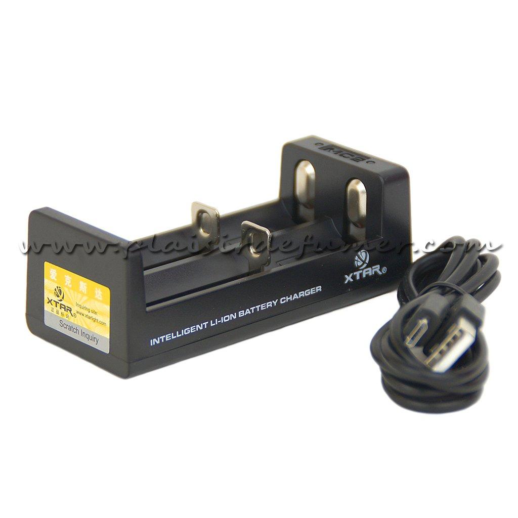 XTAR MC2 - Chargeur d'accu 2 slots portable