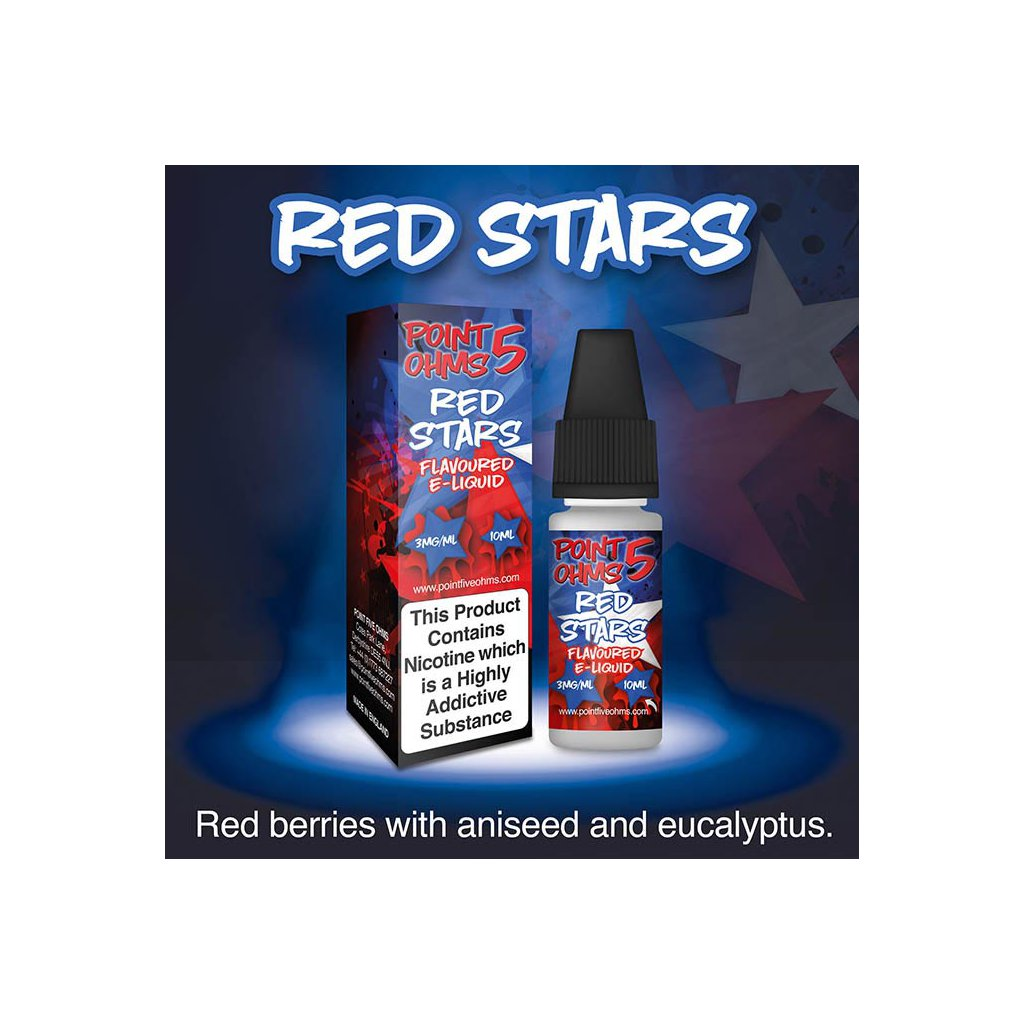 Red stars - POINT 5 OHMS - ECO VAPE - 10ml