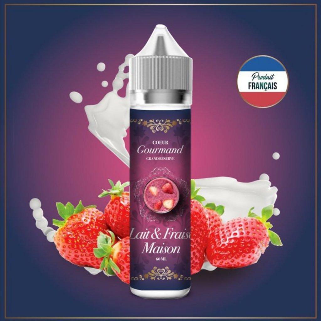 Lait & fraise maison - COEUR GOURMAND - 50ml