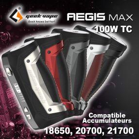 Aegis MAX - GEEK VAPE - Box simple accu 100W
